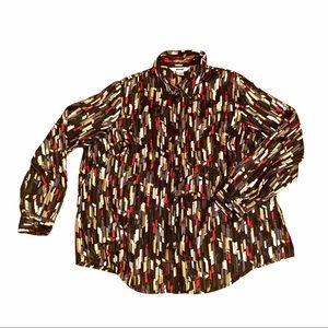 2/$25 - ALIA Sparkle Blouse - Plus 18W